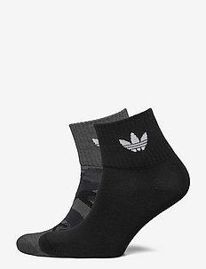 Camo Mid-Ankle Socks 2 Pairs - ankelstrumpor - gresix/black