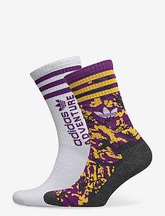 Adventure Socks 2 Pairs - kousen - multco/white