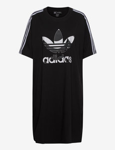 Marimekko Laine Trefoil Print Tee Dress (Plus Size) W - tshirt jurken - black