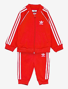 Adicolor Superstar Track Suit - tracksuits & 2-piece sets - red/white