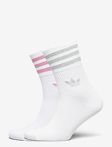 Mid-Cut Glitter Crew Socks 2 Pairs W - sockor - white/gretwo/roston