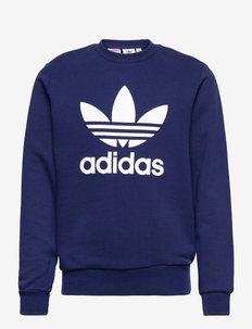 Trefoil Crew Sweatshirt - sweaters - ngtsky/white