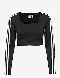 Adicolor Classics Long Sleeve Tee W - któtkie bluzki - black