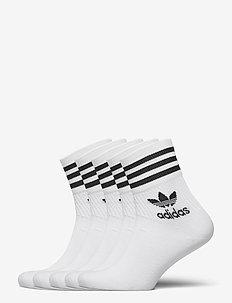 Mid-Cut Crew Socks 5 Pairs - strümpfe - white