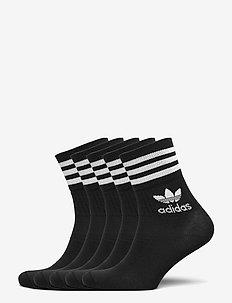 Mid-Cut Crew Socks 5 Pairs - vanliga strumpor - black