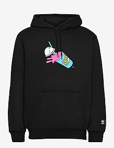 Simpsons Squishee Hoodie - perus-college-paitoja - black