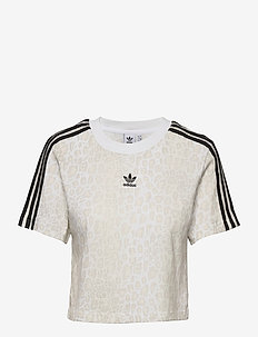 Cropped T-Shirt W - crop-tops - multco/white/talc