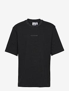 Rib Detail T-Shirt - tops - black