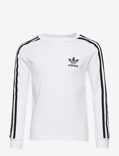 3-Stripes Tee - long-sleeved t-shirts - white/black
