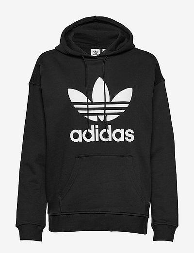 Adicolor Trefoil Hoodie W - hoodies - black/white