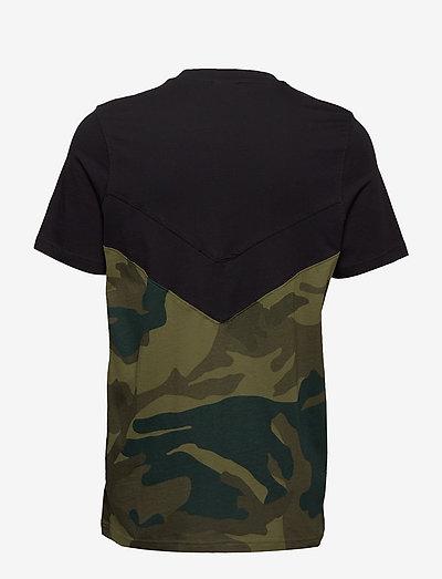Adidas Originals Camo Block T- T-shirts Black/multco