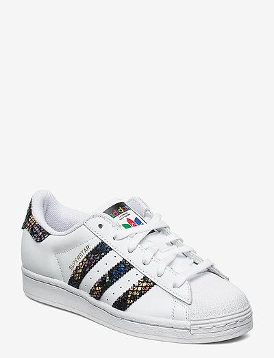 SUPERSTAR W - låga sneakers - ftwwht/cblack/red