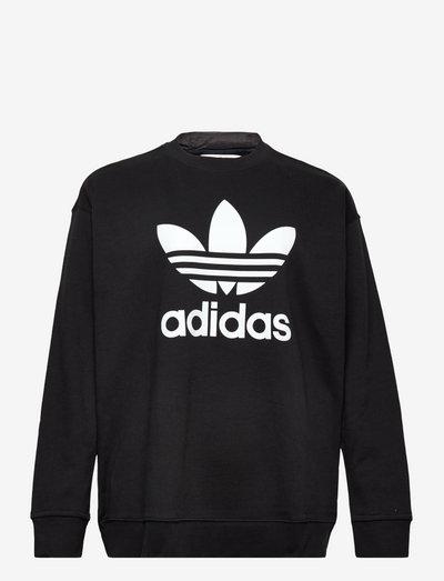Trefoil Crew Sweatshirt (Plus Size) W - sweatshirts - black/white