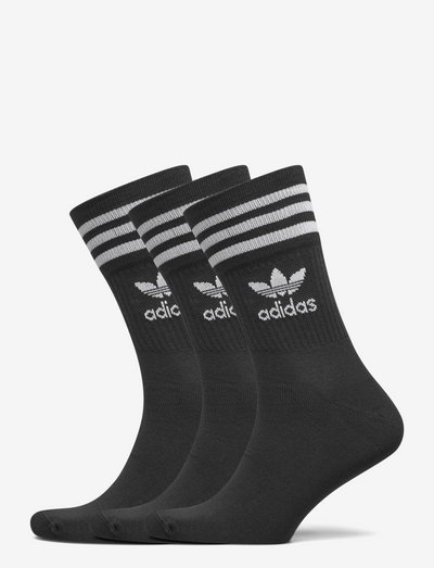 Mid Cut Crew Socks 3 Pairs - vanliga strumpor - black/white