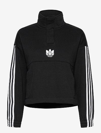 Adicolor 3D Trefoil Fleece Half-Zip Sweatshirt W - fleece - black