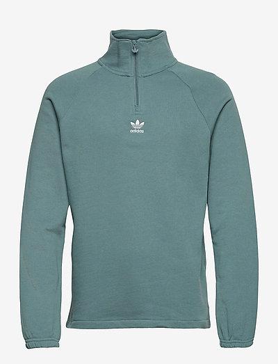 Adicolor Classics Front And Back Trefoil Half-Zip Sweatshirt - sweats basiques - hazeme