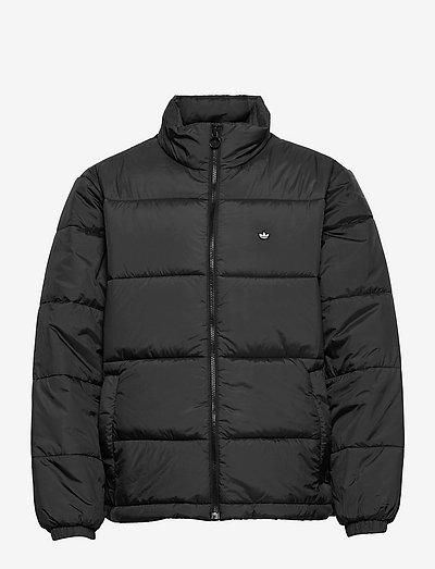 Padded Stand-Up Collar Puffer Jacket - vestes matelassées - black