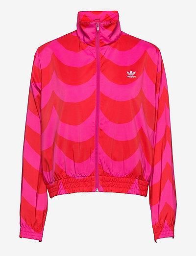 Marimekko Laine Woven Track Jacket W - sweatshirts - vivred/terema