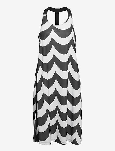 Marimekko Laine Midi Tank Dress W - summer dresses - black/white