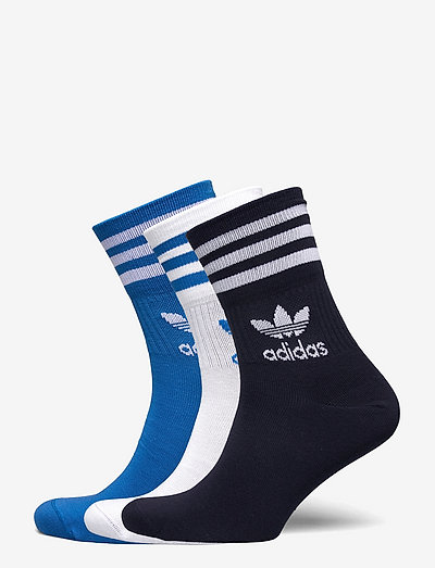 Mid Cut Crew Socks 3 Pairs - vanliga strumpor - white/blubir/legink