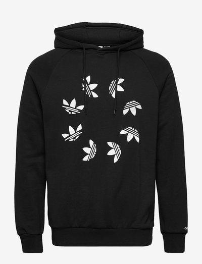 Adicolor Shattered Trefoil Hoodie - huvtröjor - black/white