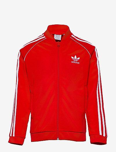 Adicolor Superstar Track Jacket - sweatshirts - red/white