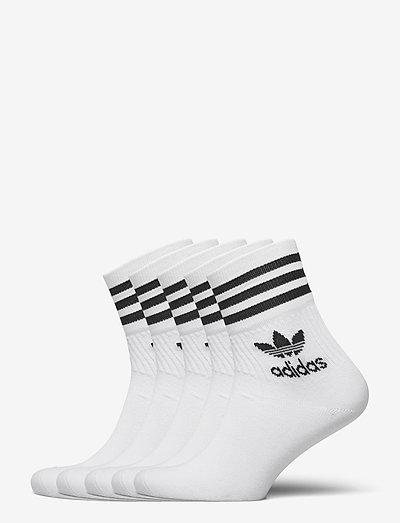 Mid-Cut Crew Socks 5 Pairs - regular socks - white