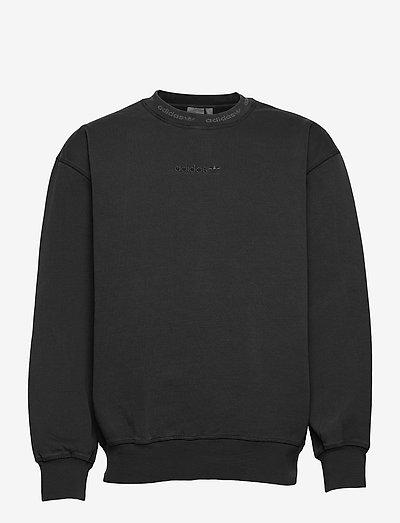 Dyed Crewneck Sweatshirt - basic sweatshirts - black