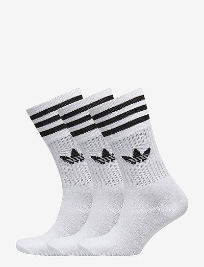 Crew Socks 3 Pairs - vanliga strumpor - white/black