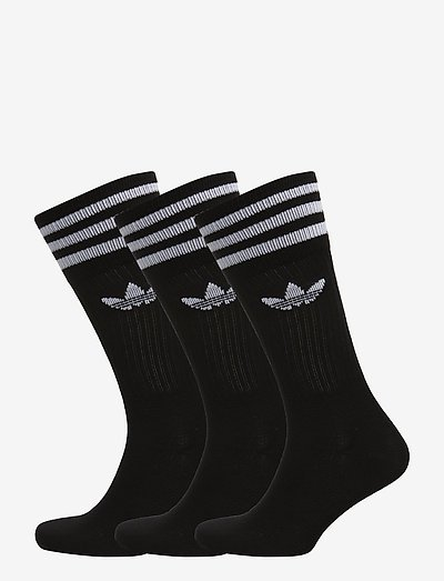 Crew Socks 3 Pairs - vanliga strumpor - black/white