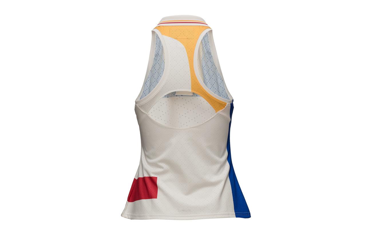 Color Tank Polyester White chalk Adidas Ny Équipement 030 Tennis Block 100 PvvEIq