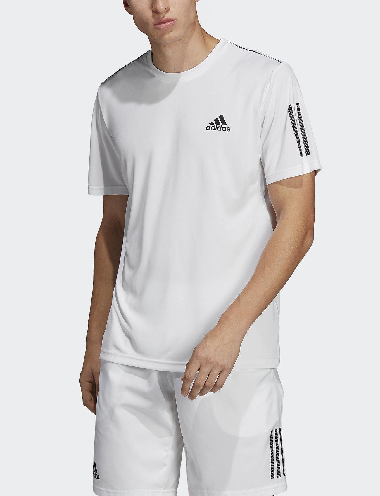 adidas Performance - 3-Stripes Club Tee - sportoberteile - white - 0