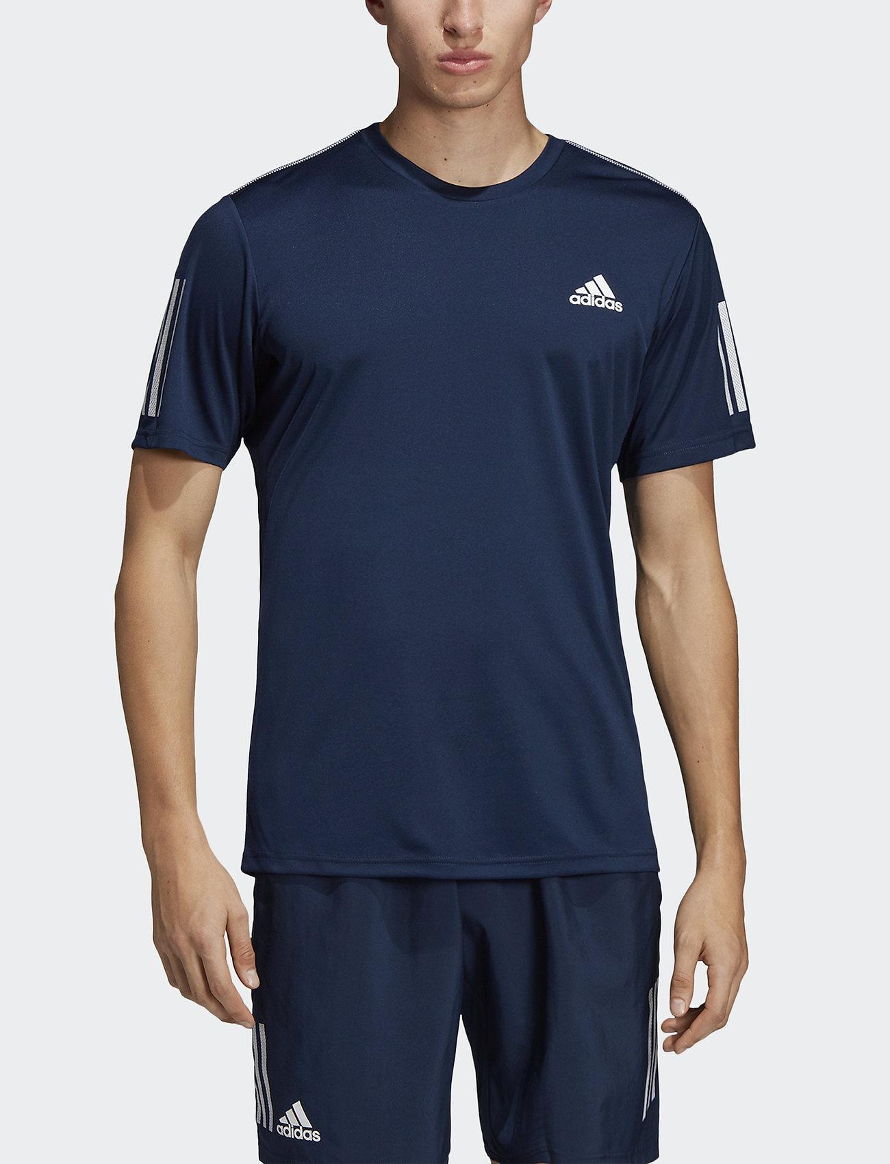 adidas Performance - 3-Stripes Club Tee - sportoberteile - navy - 0