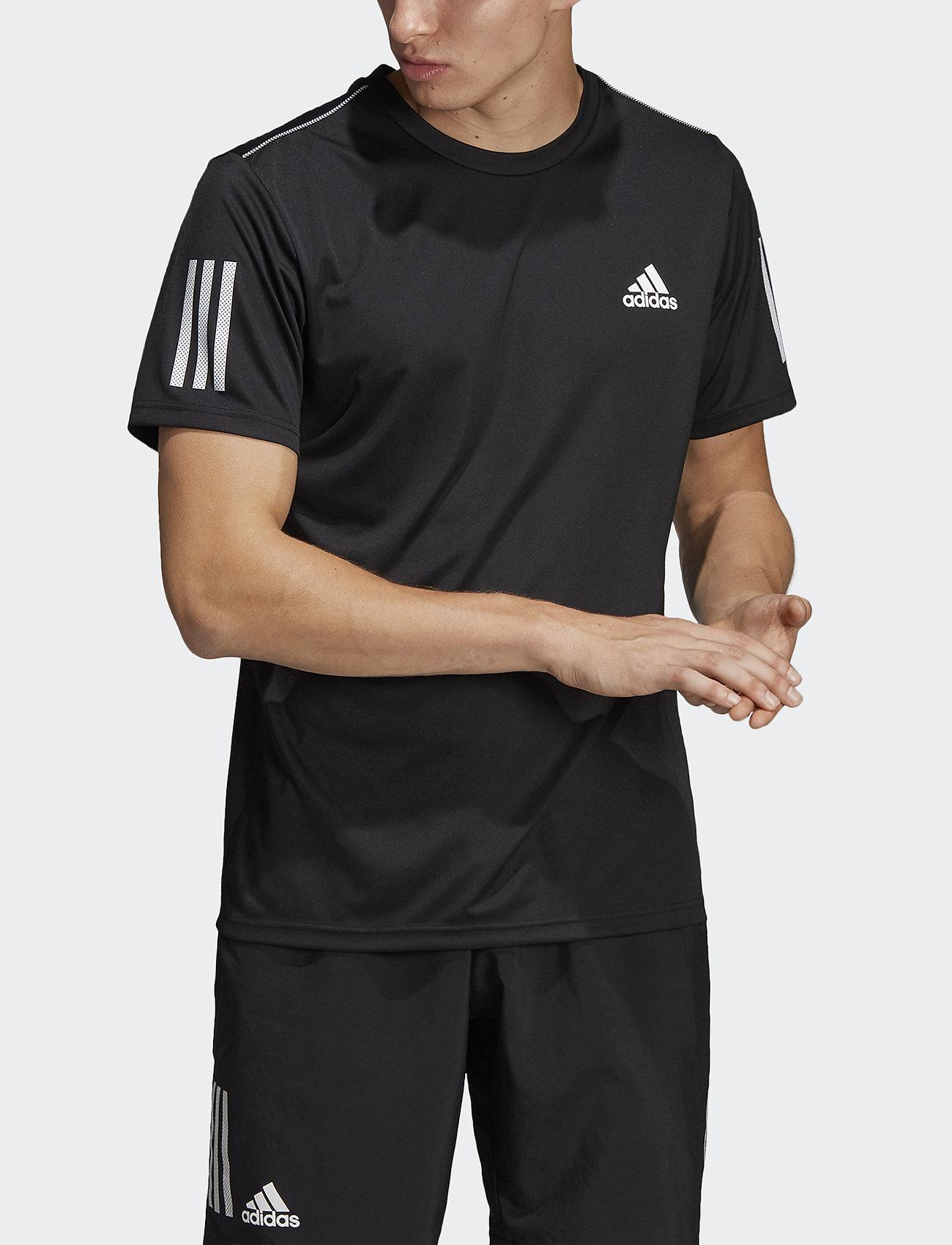 adidas Performance - 3-Stripes Club Tee - sportoberteile - black - 0