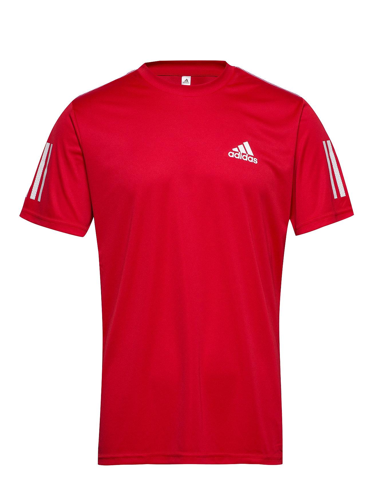 adidas Tennis CLUB 3STR TEE - SCARLET