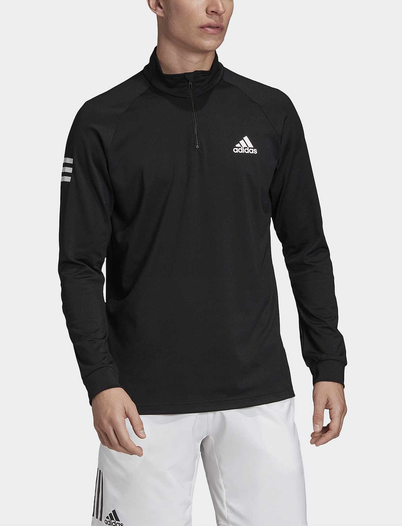 adidas Performance - Club Mid-Layer Top - basic-sweatshirts - black - 0