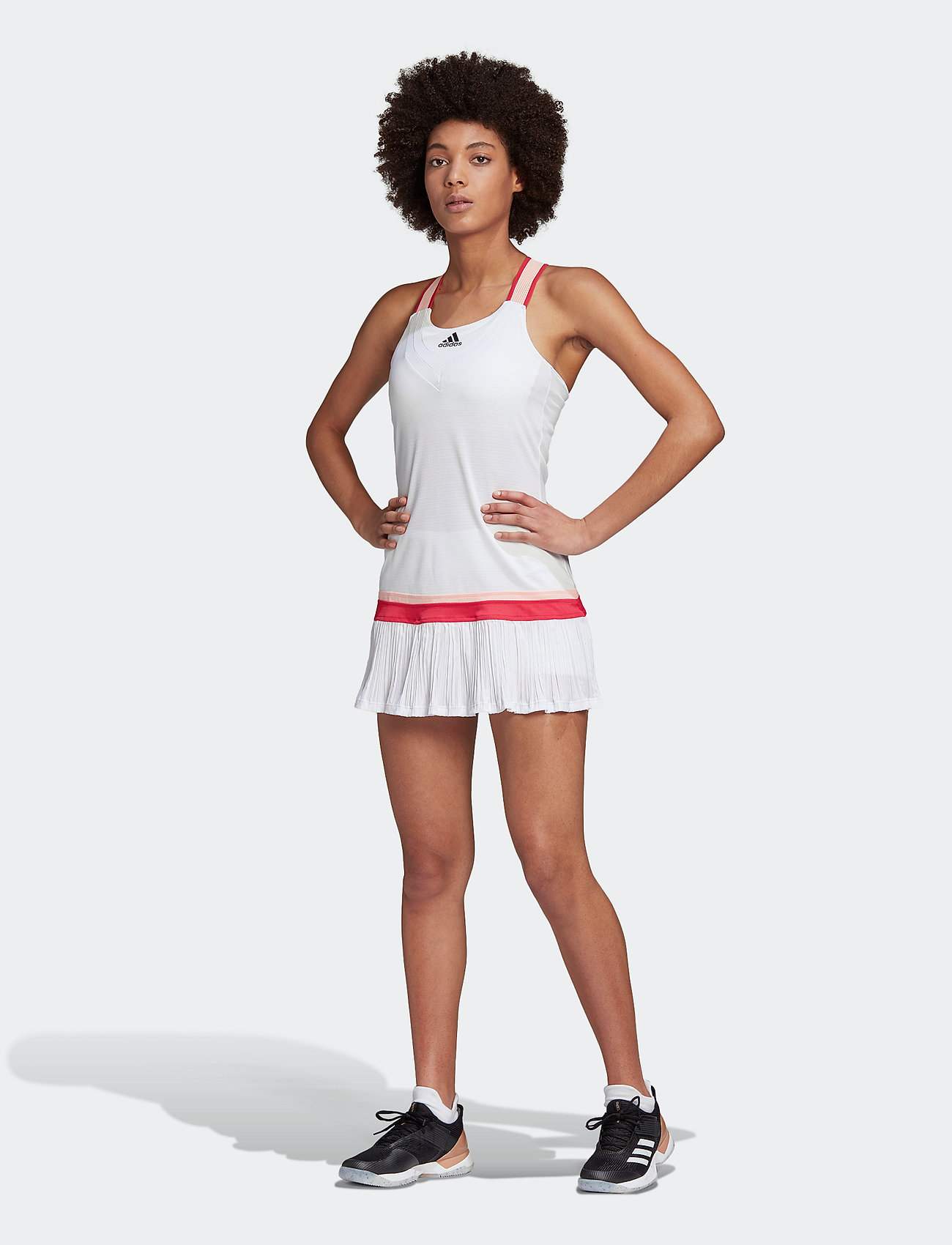adidas Performance - TENNIS Y-DRESS HEAT.RDY - sportklänningar - white - 0