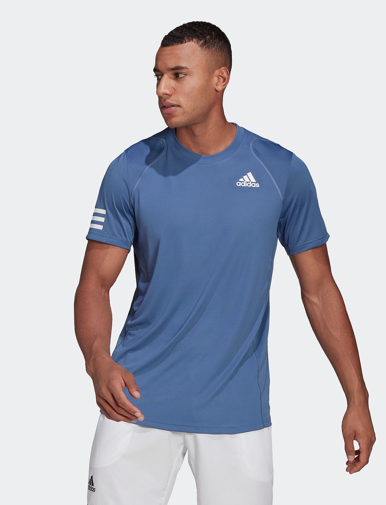 adidas Performance - CLUB 3-STRIPE T-SHIRT - t-shirts - blue - 0