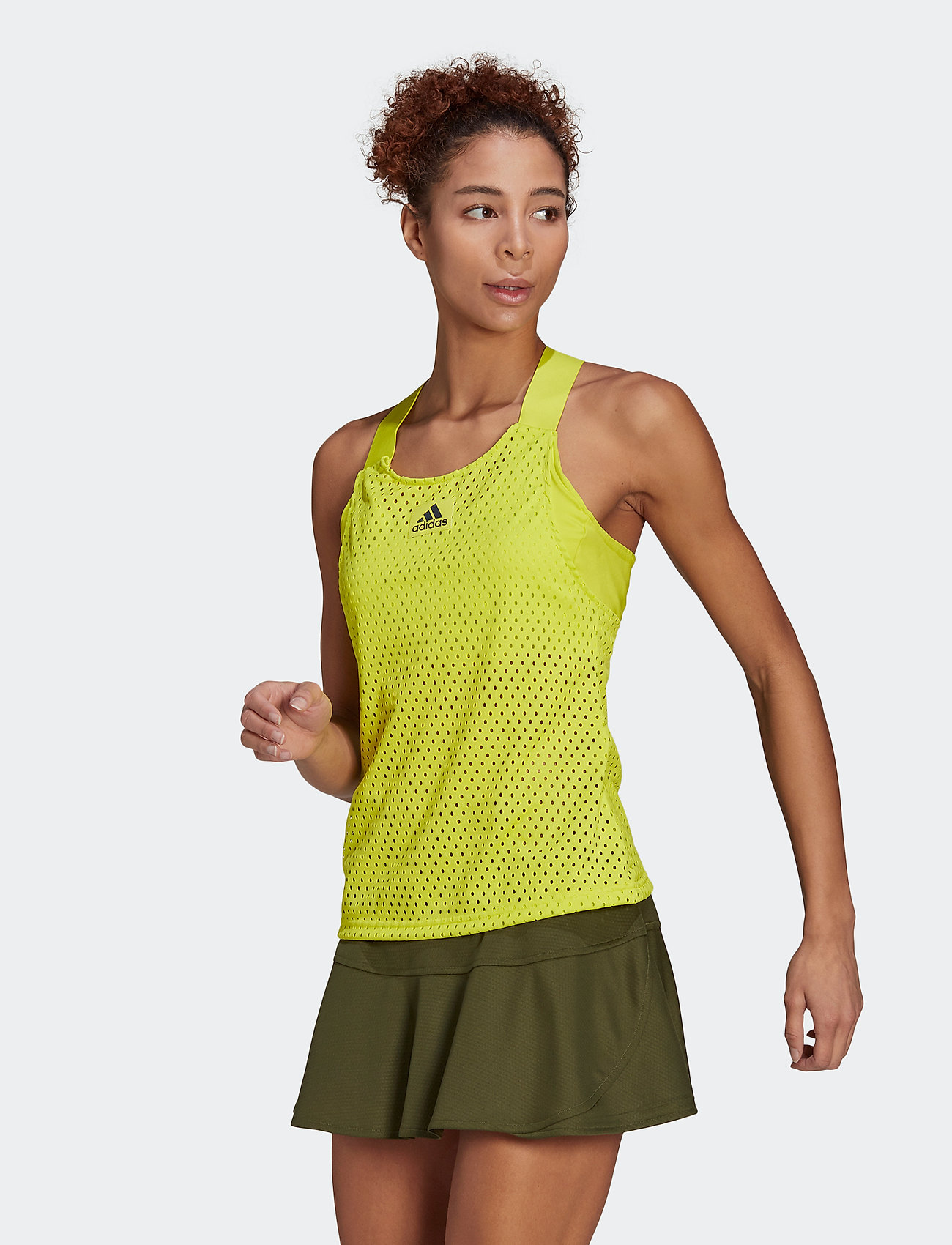 adidas Performance - HEAT.RDY Primeblue Tennis Y-Tank Top - linnen - yellow - 0
