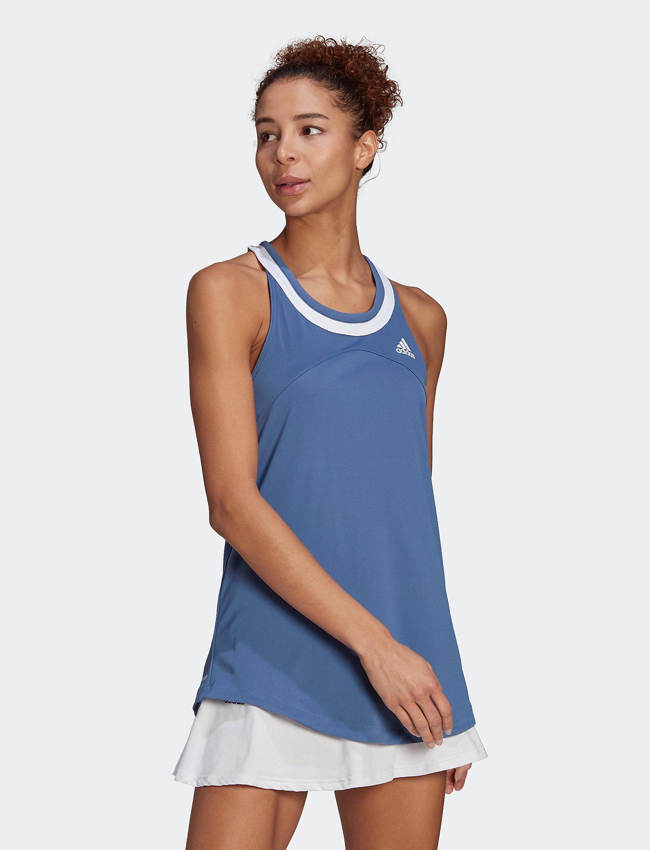adidas Performance - Club Tennis Tank Top - linnen - blue - 0
