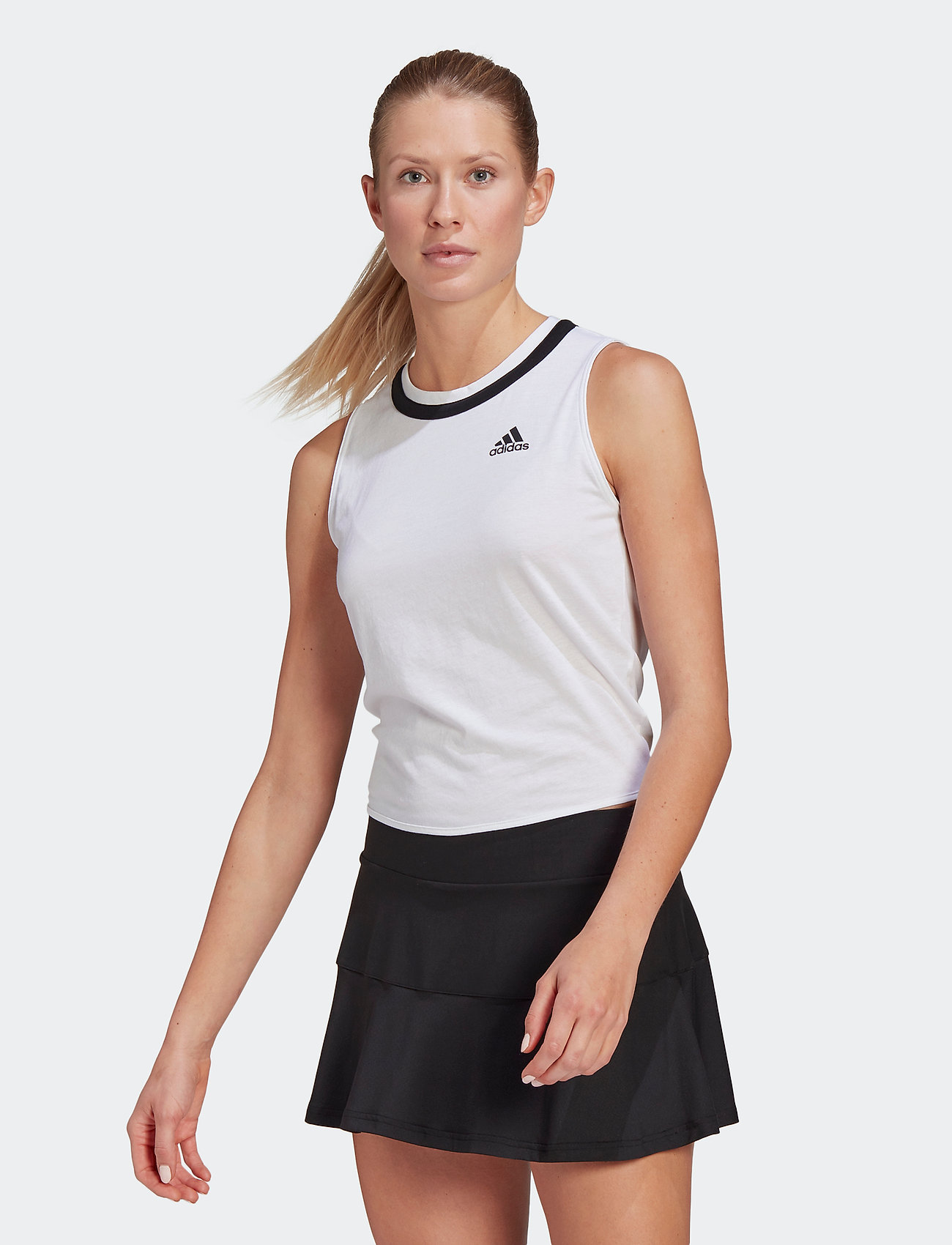 adidas Performance - Club Knotted Tennis Tank Top - linnen - white - 0
