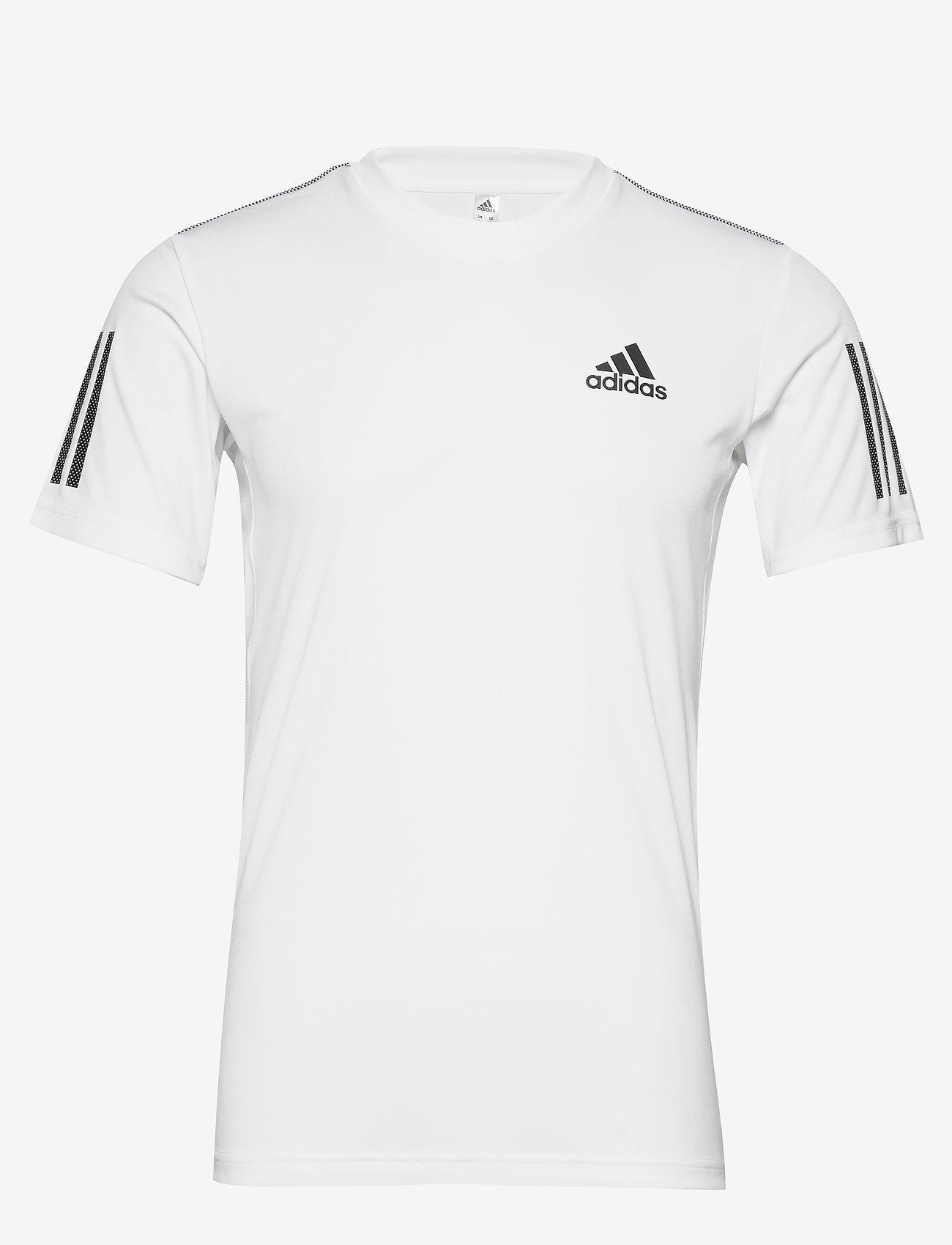 adidas Performance - 3-Stripes Club Tee - sportoberteile - white - 1