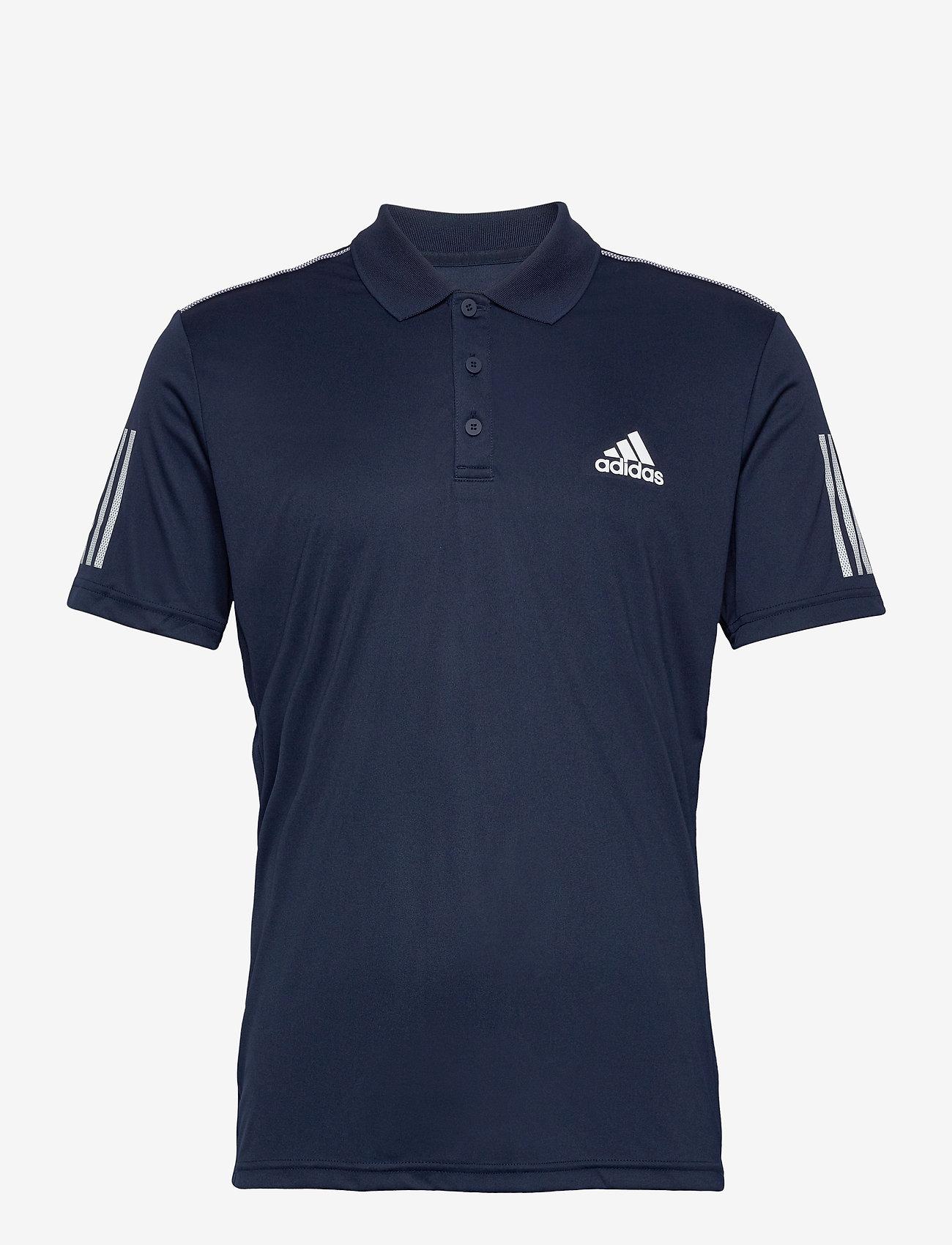 adidas Performance - 3-Stripes Club Polo Shirt - paidat - navy - 0