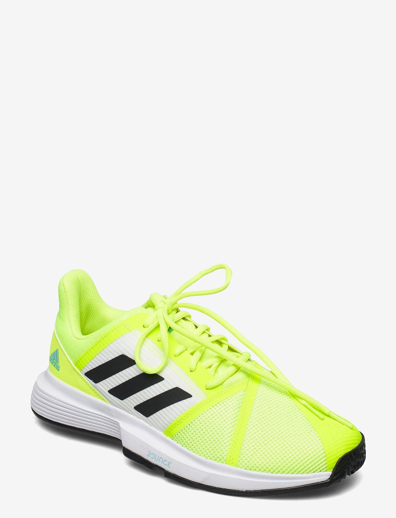 adidas Performance - COURTJAM BOUNCE M - ketsjersportsko - yellow - 0