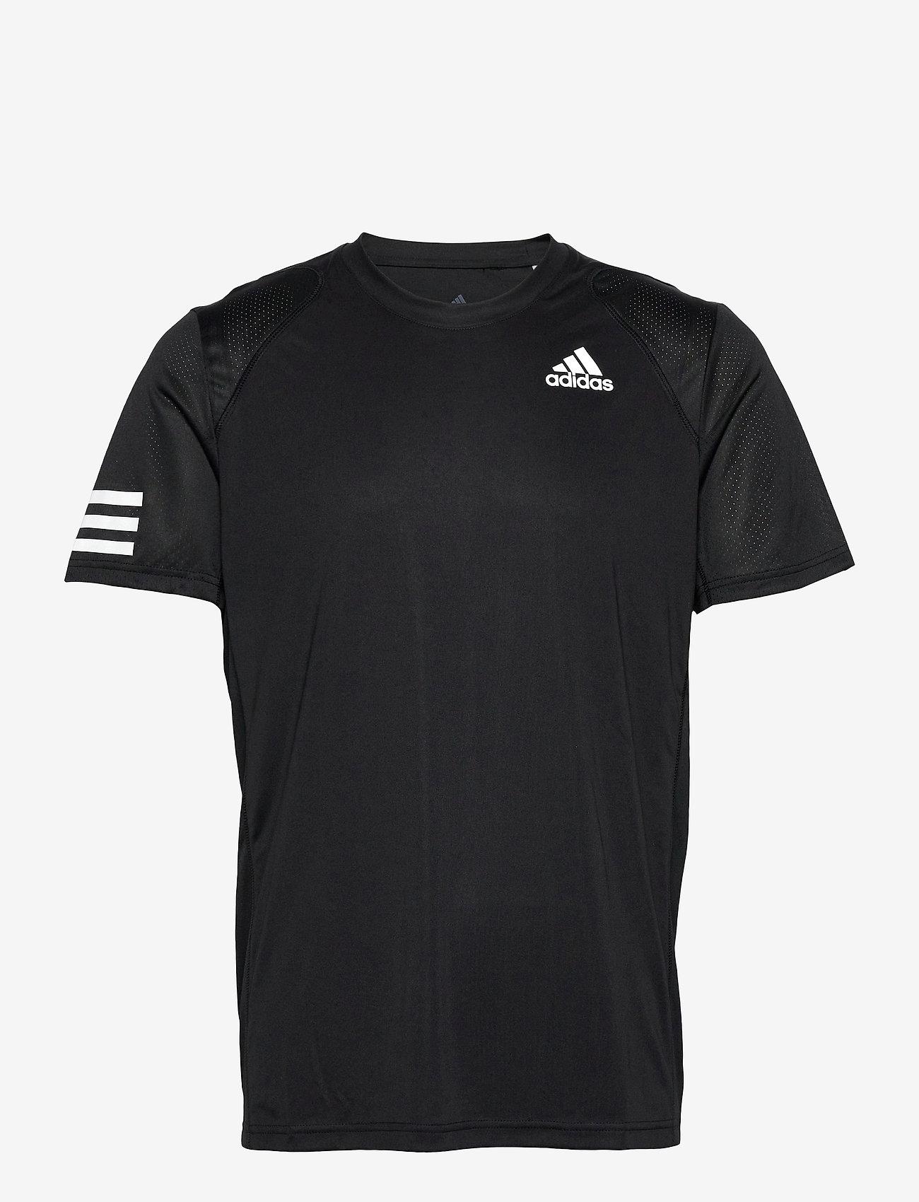 adidas Performance - CLUB 3-STRIPE T-SHIRT - t-shirts - black - 1