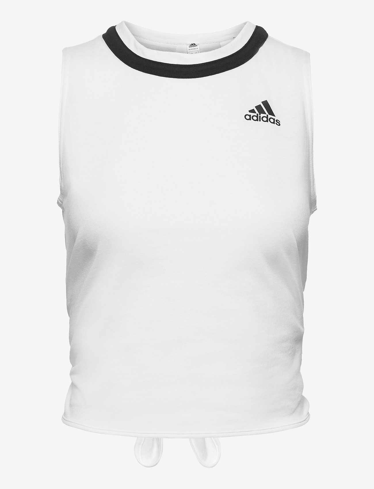 adidas Performance - Club Knotted Tennis Tank Top - linnen - white - 1