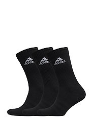3-STRIPES PERFORMANCE CREW SOCKS 3-PACK - BLACK