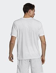 adidas Performance - 3-Stripes Club Tee - sportoberteile - white - 5