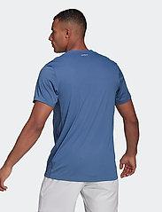 adidas Performance - CLUB 3-STRIPE T-SHIRT - t-shirts - blue - 3