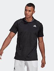 adidas Performance - CLUB RIB POLO SHIRT - kortærmede - black - 0